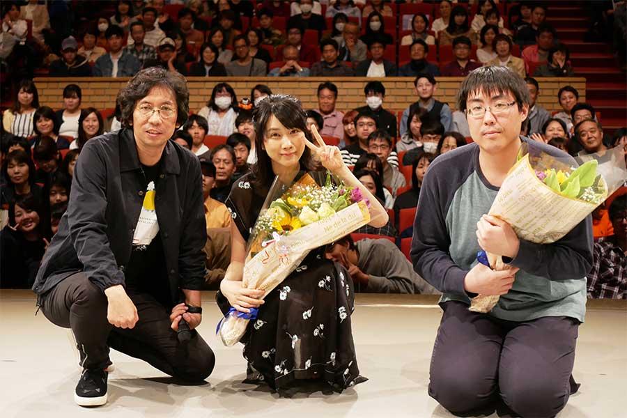 行定映画祭ディレクター、『アストラル・アブノーマル鈴木さん』の松本穂香、大野大輔監督(左から)