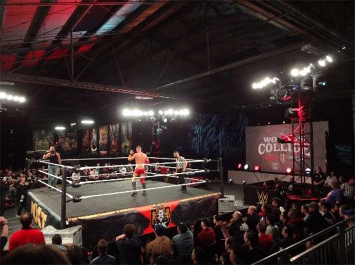 WWEの試合がこれだけ間近に見られる機会はなかなかない