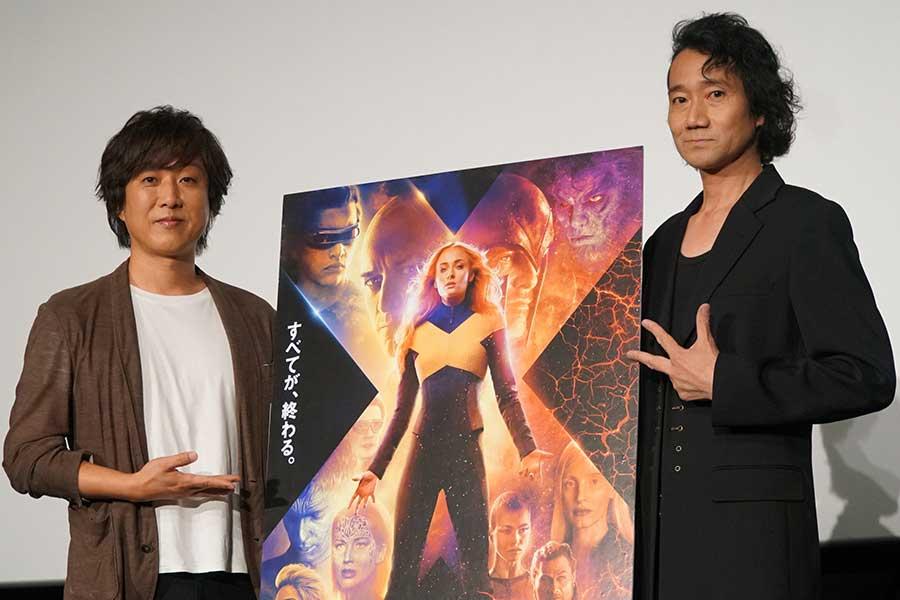 トークショーを行った内田夕夜と三木眞一郎(右)