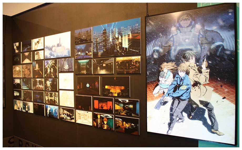 企画展「PSYCHO-PASS サイコパス資料展 2112→2117 / 2120」は豊富な展示量だ【写真:編集部】