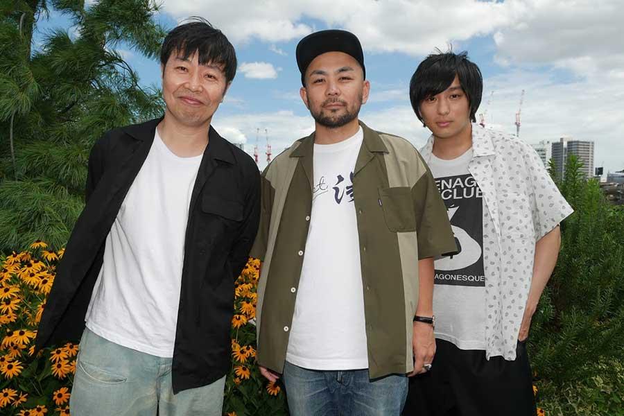 曽我部恵一、工藤将亮監督、古舘佑太郎(左から)