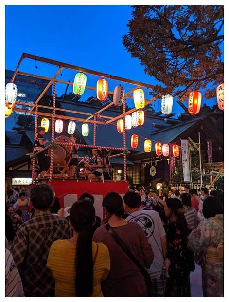 東京大神宮の盆踊り(8月8日)