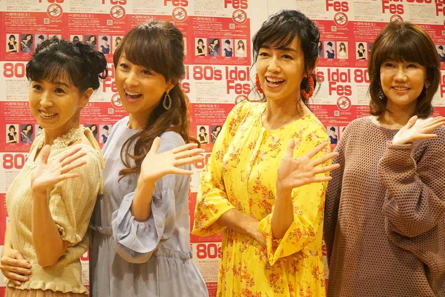 (左から)西村知美、渡辺美奈代、早見優、松本伊代