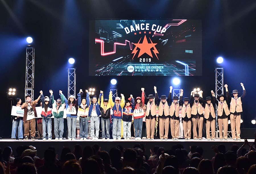 今年の「DANCE CUP 2019」は小学生20チーム、中学生20チームがFINALに進んだ
