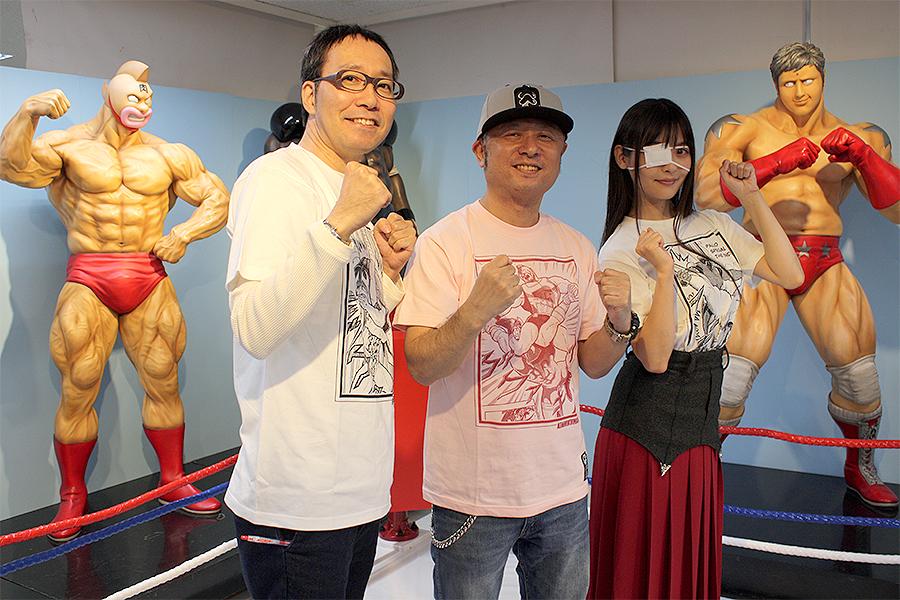 左から 清野茂樹アナ、嶋田隆司氏、上坂すみれさん