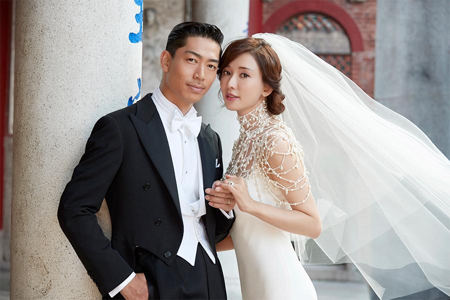 結婚を発表したEXILE AKIRAと林志玲(LDH提供)