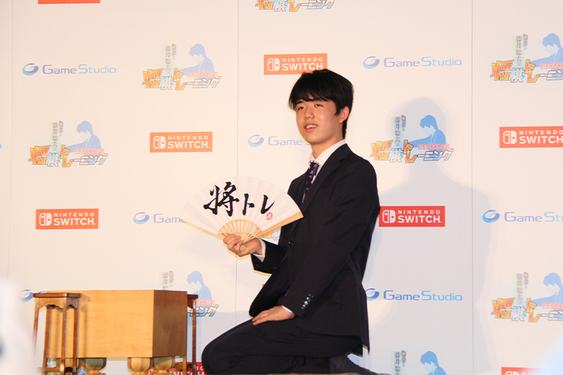 初監修ゲームソフトのPRに余念がない藤井聡太七段