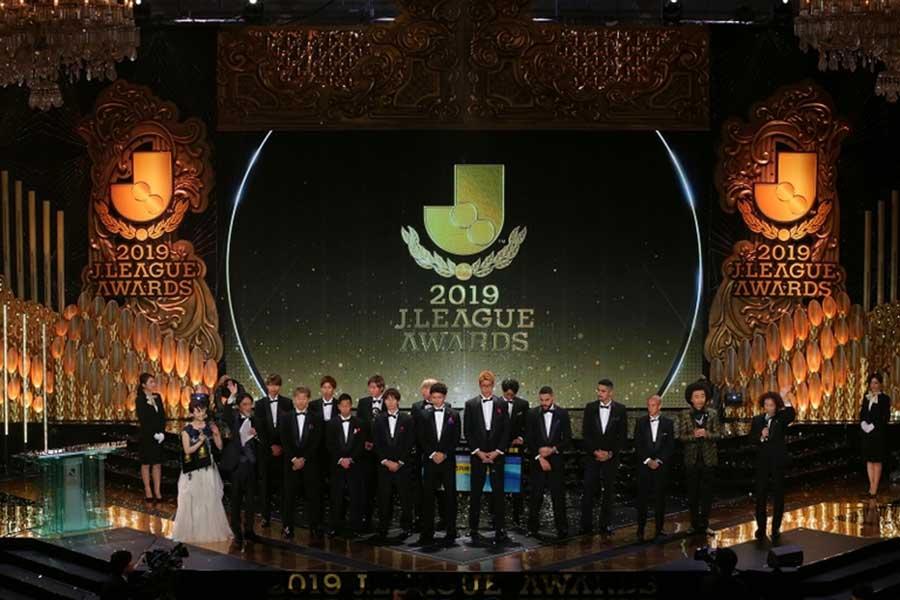 都内で行われたサッカー・Jリーグの年間表彰式「2019Jリーグアウォーズ」(C)Jリーグ