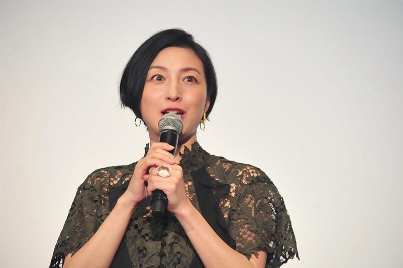 完成披露試写会で会場全体を魅了した広末涼子