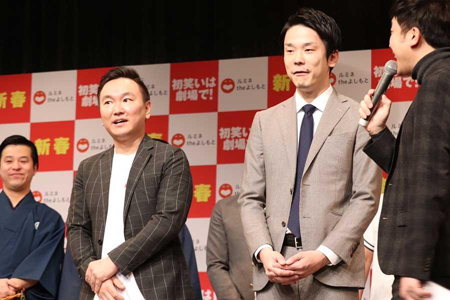 「かまいたち」の山内健司(左)と濱家隆一