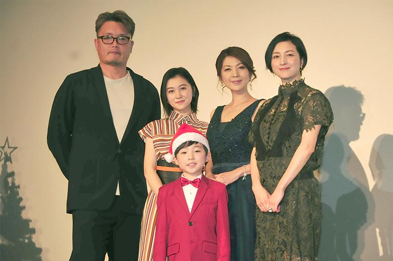 (左から)権野元監督、山口まゆ、潤浩、飯島直子、広末涼子