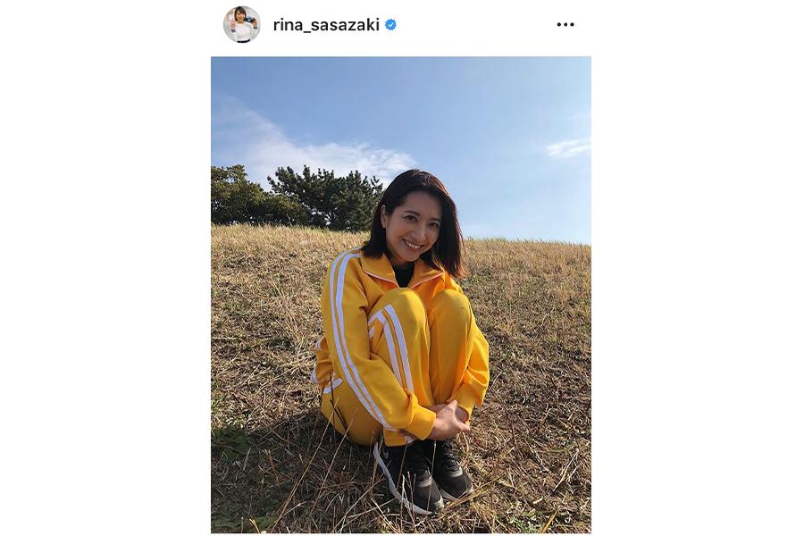笹崎里菜アナウンサー インスタグラムより@rina_sasazaki