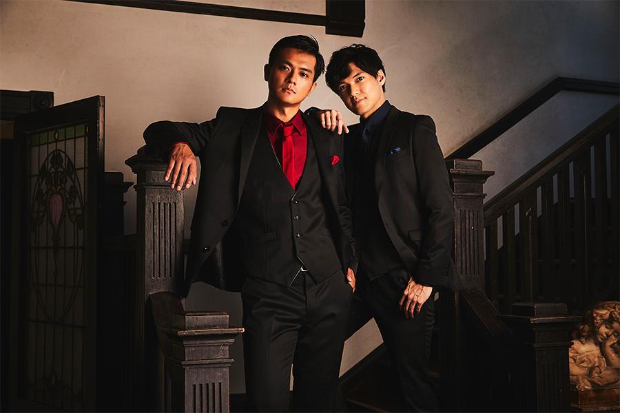 バリトンの田中俊太郎(左)とテノールの大田翔