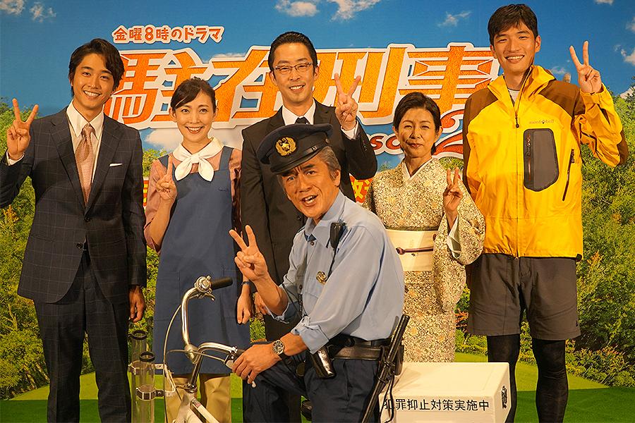 寺島進 「駐在刑事」会見で台風被害の奥多摩に「希望が見えるドラマに」