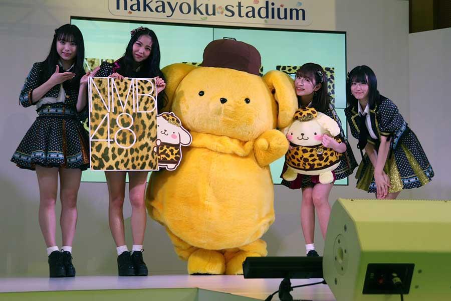 (左から)梅山恋和、白間美瑠、ポムポムプリン、吉田朱里、上西怜