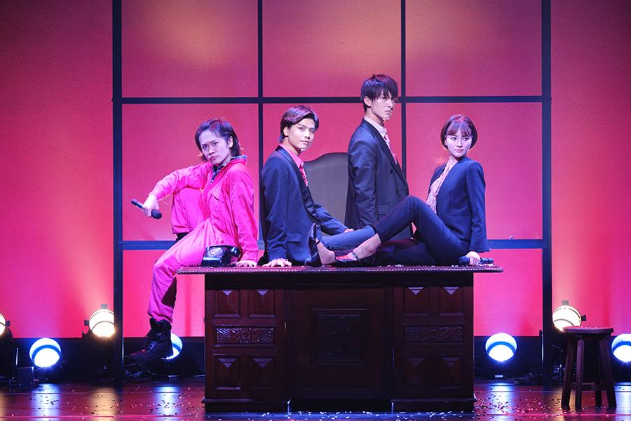 「改竄・熱海殺人事件 モンテカルロ・イリュージョン」の出演者、(左から)鳥越裕貴、多和田任益、菊池修司、兒玉遥