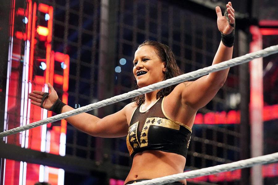 女子チェンバー戦に参戦したシェイナ・ベイズラー (C)2020 WWE, Inc. All Rights Reserved.