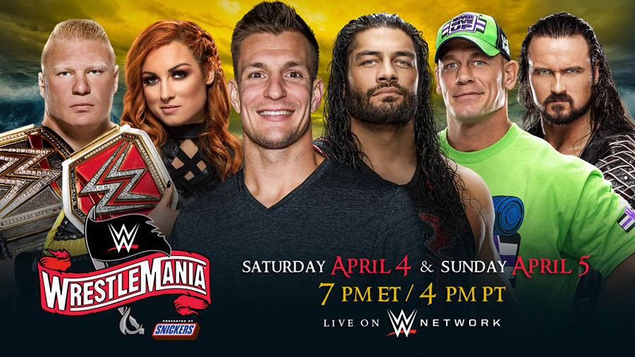 史上初2日間開催が決定した「レッスルマニア36」 (C)2020 WWE, Inc. All Rights Reserved.