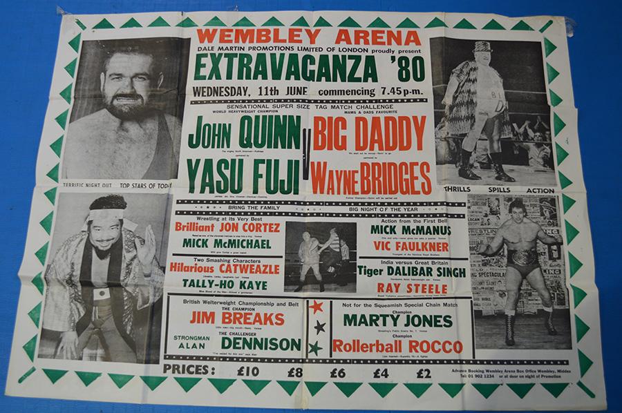 1980年に英国・ウェンブリーアリーナで行われた大会ポスター【写真提供:新井宏】