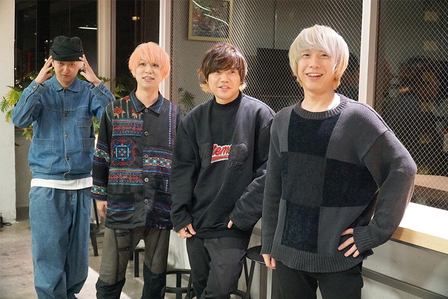 KEYTALK(左から)小野武正、首藤義勝、寺中友将、八木優樹