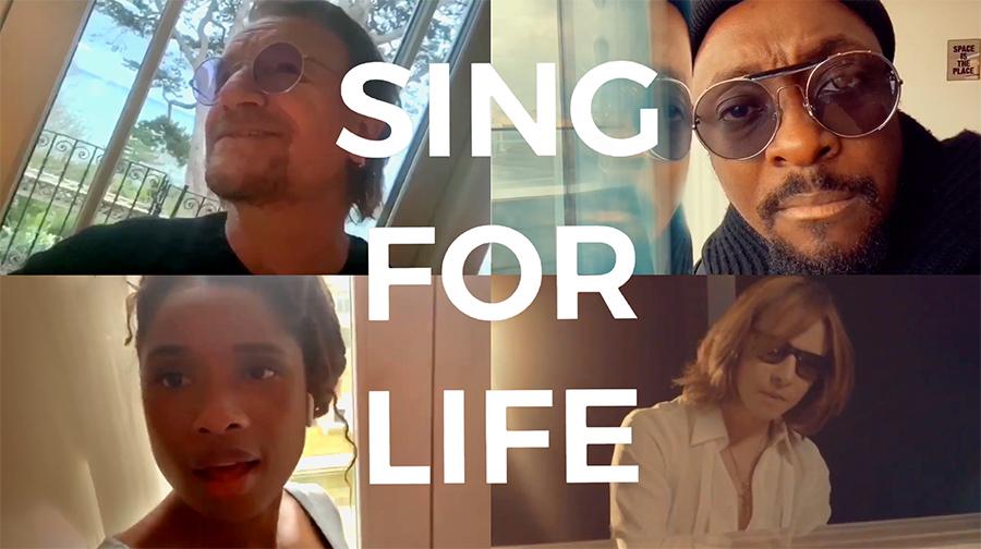 「#SING4LIFE - Featuring Bono, will.i. am, Jennifer Hudson and Yoshiki」