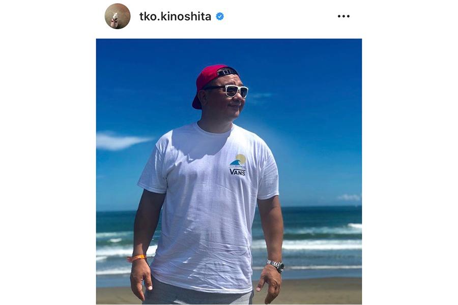 「TKO」の木下隆行 インスタグラムより@tko.kinoshita
