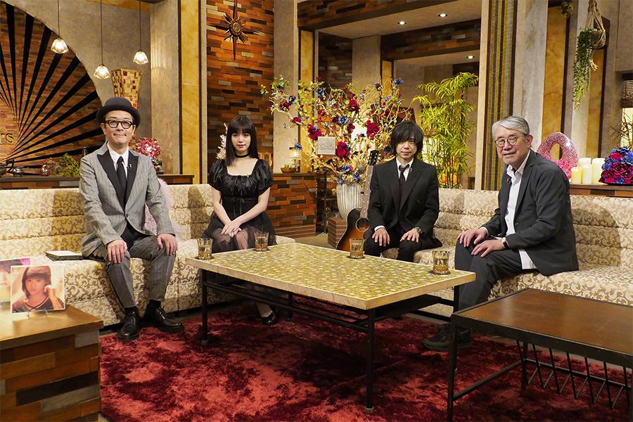 (左から)リリー・フランキー、池田エライザ、宮本浩次、松本隆(C)NHK