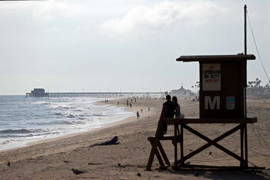 ニューポートビーチ【写真:Getty Images】