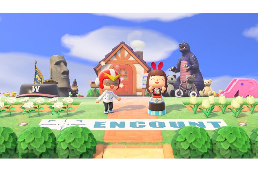 (c)2020 Nintendo エンカウン島ハウス前で記念撮影