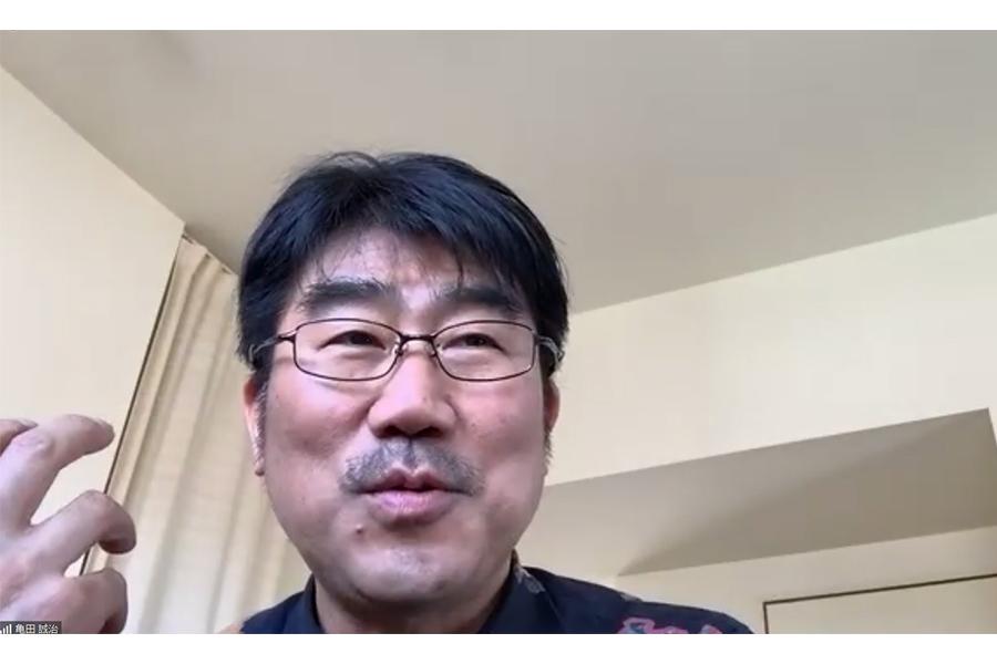 リモート取材で語る亀田誠治氏(C)日比谷音楽祭実行委員会