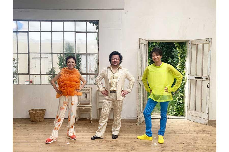 クミコ、パパイヤ鈴木、井上芳雄の3ショット【掲載:ENCOUNT編集部】