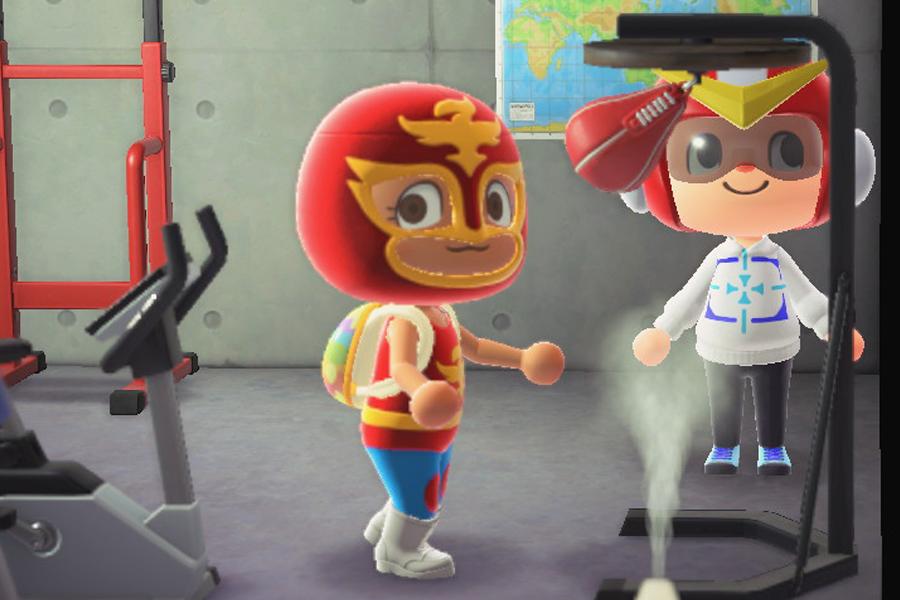 (c)2020 Nintendo キャプチャー撮影:ENCOUNT編集部  「ゲーム内でもトレーニングを欠かさないRENA選手」
