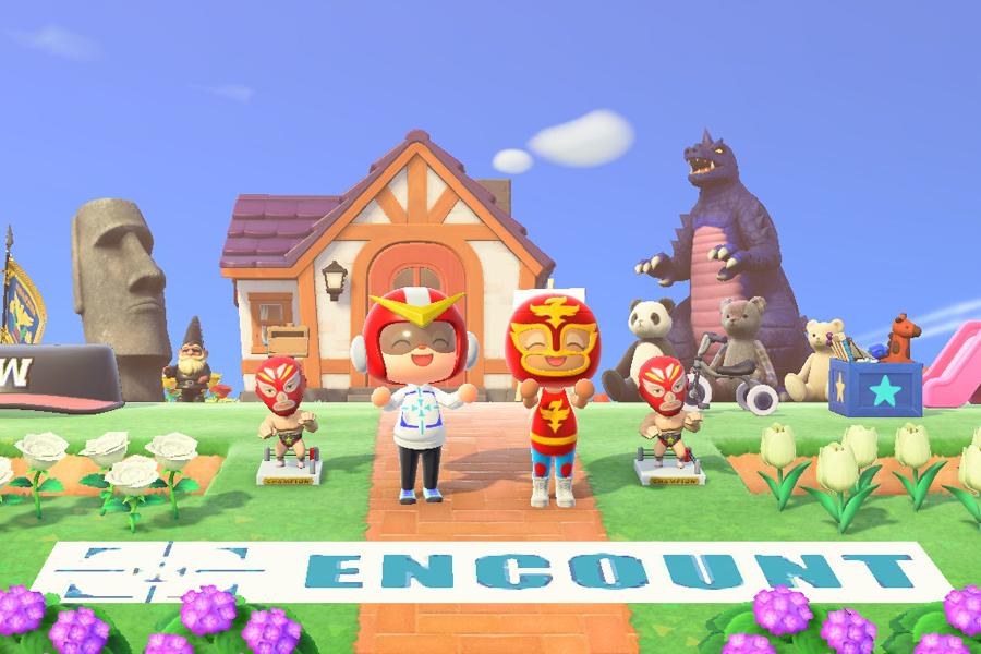 (c)2020 Nintendo キャプチャー撮影:ENCOUNT編集部  「エンカウン島ハウス前で記念撮影」