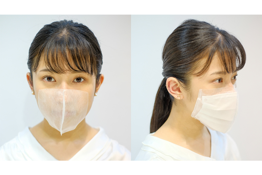 耳にかけない新型マスクが誕生 ひもの代わりに医療用両面テープ使用 理美容業界向け