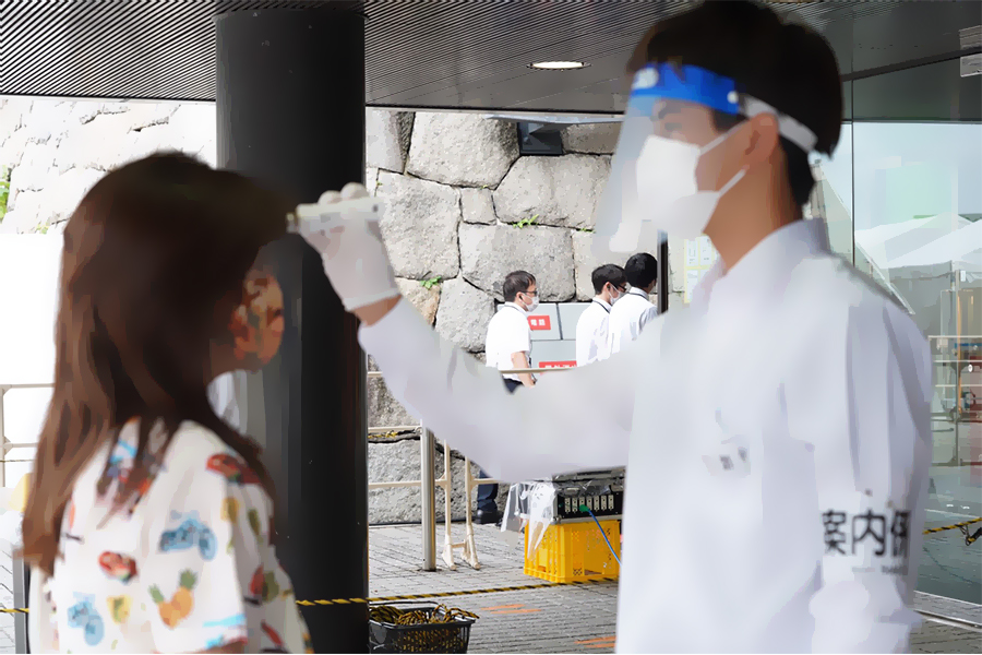新日本プロレスが緊急事態宣言後初の有観客大会 徹底した感染防止対策が取られる