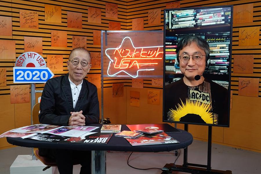 「ベストヒットUSA」の小林克也(左)と「町山智浩のアメリカの今を知るTV In Association With CNN」の町山智浩
