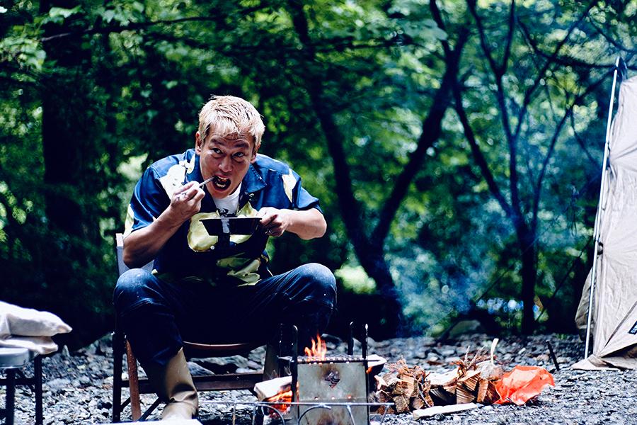初のレギュラー冠番組「じゅんいちダビッドソンの下手なキャンプでごめんなさい」【写真:(C)GAORA SPORTS】