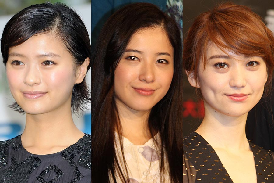 榮倉奈々、吉高由里子、大島優子(左から)【写真:Getty Images】