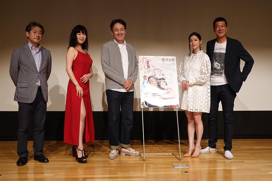 (左から)村田信男監督、佐々木心音、小木茂光、出口亜梨沙、工藤俊作
