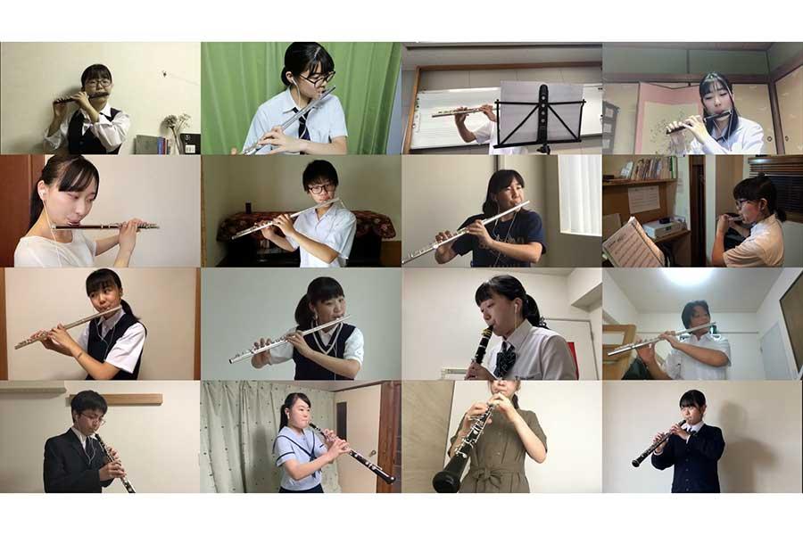 全国107人の吹奏楽部員が「星影のエール」をリモートで合奏