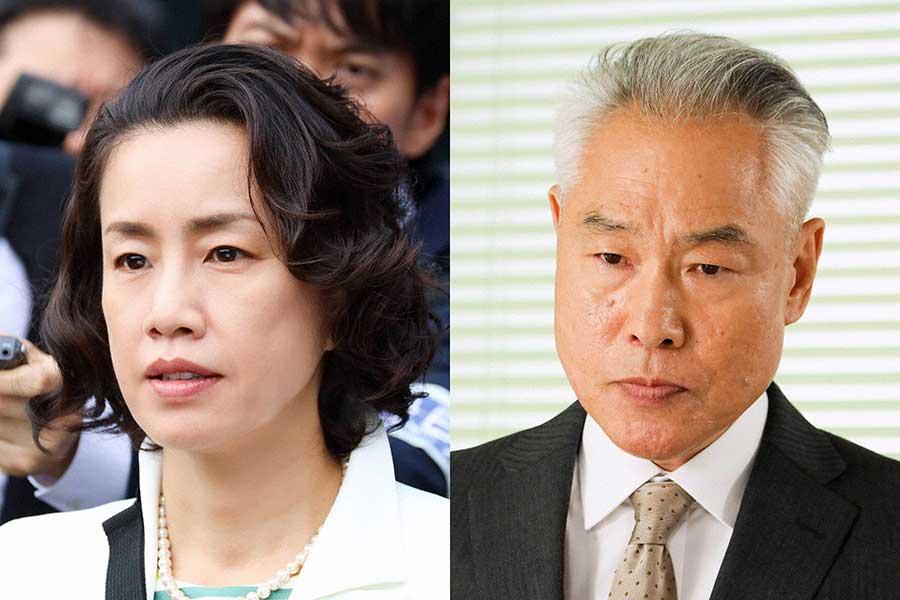 渡辺真起子(左)とモロ師岡が「アンサングシンデレラ」にゲスト出演【写真:(C)フジテレビ】