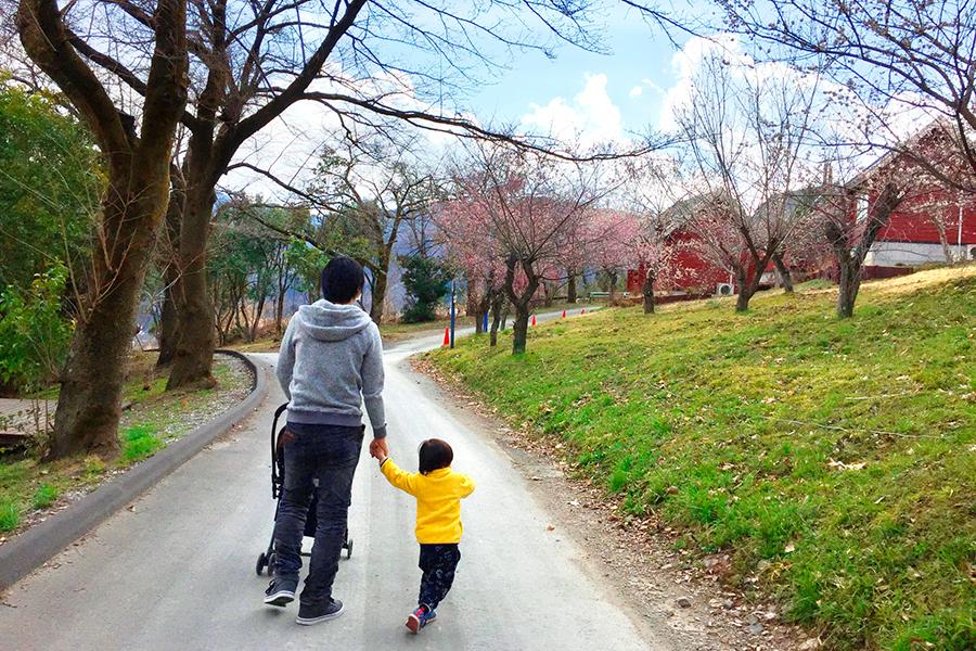 """子どもと散歩する""""イクメン""""パパ(写真はイメージ) 【写真:写真AC】"""