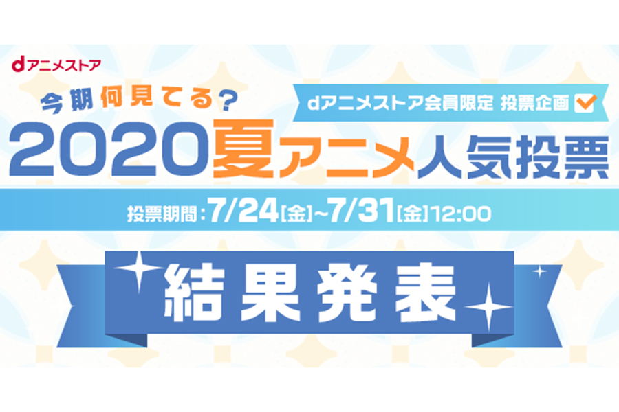 「dアニメストア」が2020年の夏アニメ視聴ランキングを発表