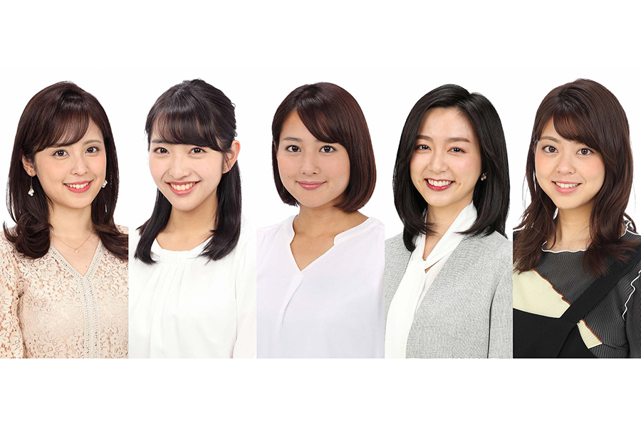 久慈暁子アナウンサーらフジテレビ女子アナ5人の帯企画がスタート【写真:(C)フジテレビ】