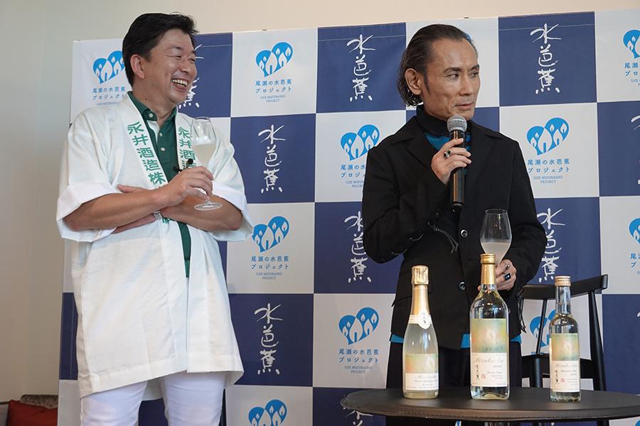片岡鶴太郎が永井酒造の新日本酒イベントに登場【写真:ENCOUNT編集部】