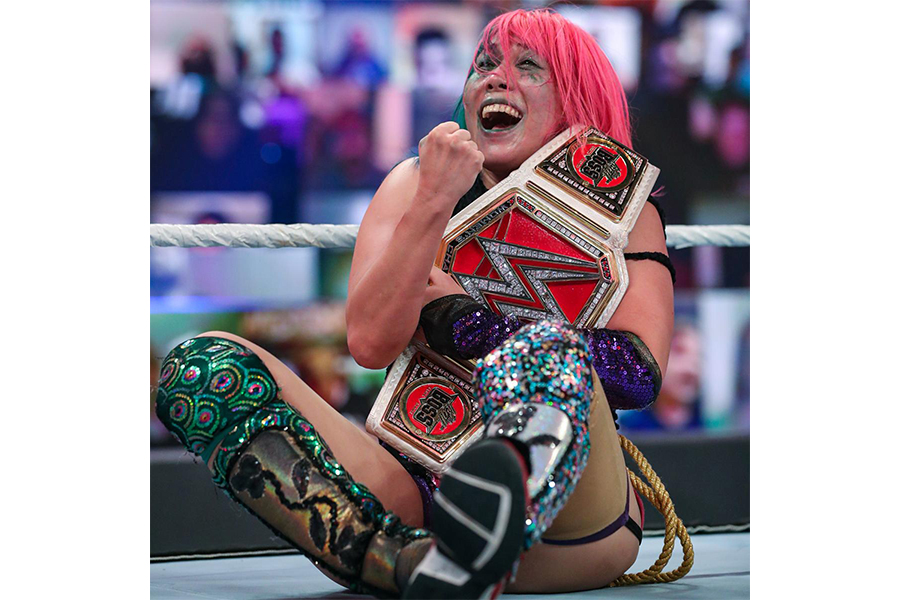 WWEロウ女子王者にまで上り詰めたASUKA【写真:(C)2020 WWE, Inc. All Rights Reserved.】