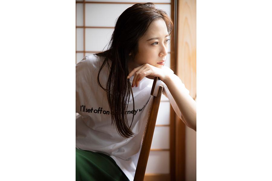 SKE48高柳明音と「RITA JEANS TOKYO」のコラボTシャツ誕生 「うれしいです!」