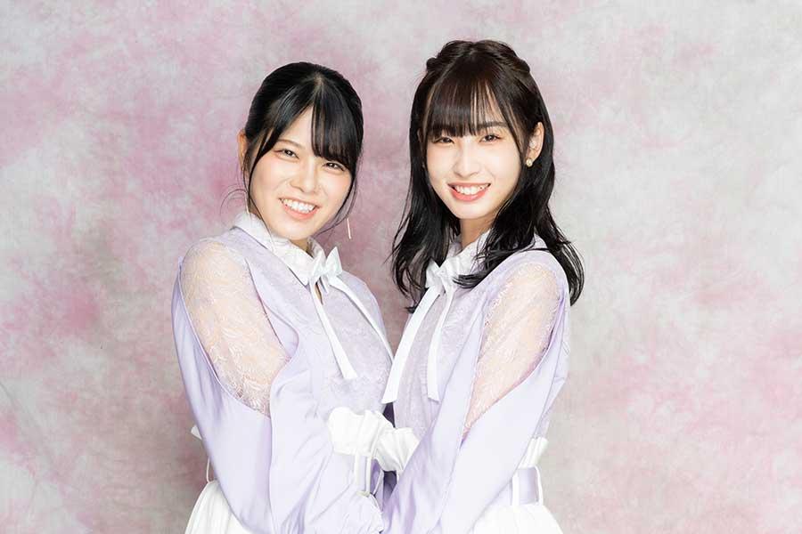 矢野帆夏(左)と沖侑果【写真:山口比佐夫】
