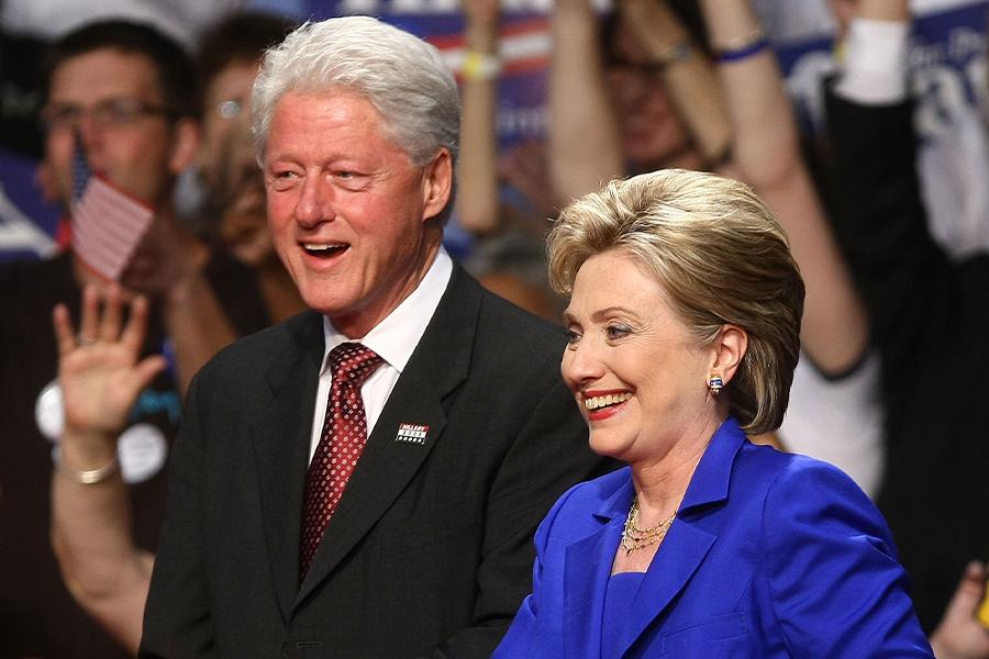 ビル・クリントン元大統領夫妻【写真:Getty Images】
