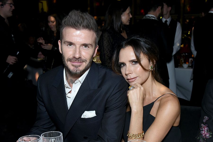 デイビッド・ベッカム(左)と妻のヴィクトリア・ベッカム【写真:Getty Images】